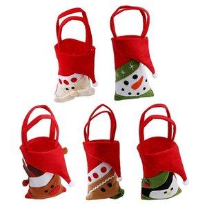 Fun Christmas Candy Bag Изысканные рождественские украшения для дома Новогодний подарок Пакет Дед Мороз Подарочные пакеты