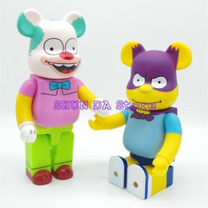 400 % Bearbrick 곰 배트맨 집게 어릿 광대 심슨 PVC 액션 피규어 모드 장난감 28CM