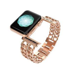 Roségold edelstahl armband mode für apple watch band 42mm luxus iwatch bands armbänder für iwatch serie 38mm t190620