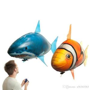Air Swimmer IR RC tubarão Clownfish Voar Assembléia Peixe Peixe palhaço Controle Remoto balão inflável Kids Brinquedos