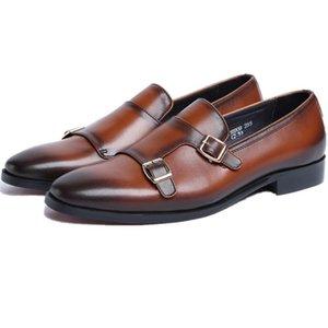 Doppel Monk Strap Social Schuhe Mens-Geschäfts-Kleid-Schuhe echtes Leder Brautschuhe