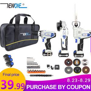 NewOne 12V Perceuse sans fil avec meuleuse d'angle tournevis électrique Drill Combo Kit Power Tool