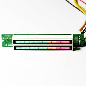 Hot Mini Dual 12 Indicador de Nível VU Meter Stereo Amplifier Board ajustável Light Speed Board com KITS Modo AGC Diy