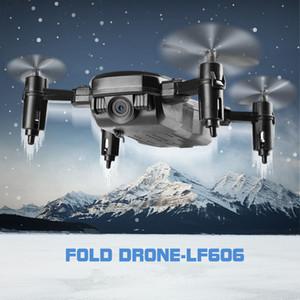LF606 واي فاي FPV RC الطائرة بدون طيار كوادكوبتر مع كاميرا 0.3MP ABS البلاستيك 11 * 11 * 3.5 سم 360 درجة تناوب الطائرة بدون طيار