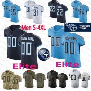 CustomTennesseeTitans Mens Women Kids 31 Kevin Byard 11 AJ Brown TEN Jerseys 22 Derrick Henry Corey Davis 77 Taylor Lewan