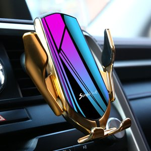 Automatic Clamping QI Wireless Car Charger Mount Infrared Sensor Fast Charging Holder 10w fast charger wirelles charger carga