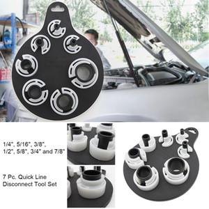 7pc Hızlı kes Alet Seti AC Yakıt Hattı İletim Parçaları Kompresör Debriyaj Çektirme Araç Seti | Araç Klima Temizleyici @ 10
