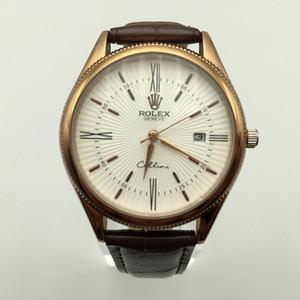 классические швейцарские часы дизайнер кожаные мужские часы класса люкс Мужской часы известного бренда кварцевые наручные часы моды Montre люксусный Релох HOMBRE