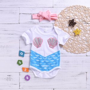 Amazon Explosive Baby's Uniform Clothes Summer New Foreign Trade Color Printed Short Sleeve Triangular Climbing Clothes