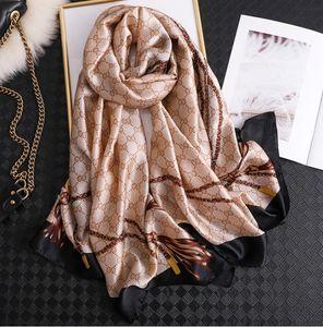 bufanda de las mujeres pañuelos de seda verano chales señora envuelve suave pashimina playa femenina Diseñador Echarpe robó el pañuelo
