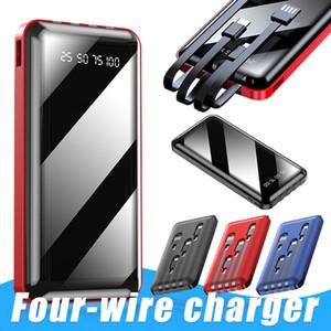 YM-276S Портативный Ультра-тонкий зарядное устройство 4 Тип линии C Micro USB LED Полный экран цифровой дисплей POWERBANK для Универсальный телефон В поле