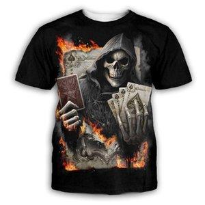 Men S Luxury Mens Designer T Shirts T Shirt Tshirt Personality 3D Digital Human Skeleton Printing Tshirt Mens Clothes Clothing Tee Shirt