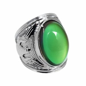 2020 Designer European and American Men's Glamour King Eagle gem ring Thermochromic Ring Factory Wholesale