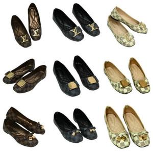 venta caliente Zapatos principales redondos 2018 solos zapatos de las mujeres de lujo marca de alta calidad mocasines planas del tamaño de los zapatos ocasionales de 35 ~ 42 S20669