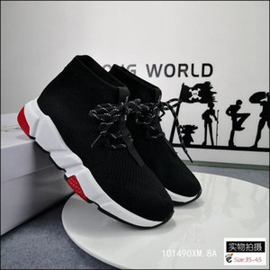 2020 New Sneakers Speed Trainer Runner Black Triple Black Fashion Flat Socks Boots Casual Shoes Size 36-45 A1
