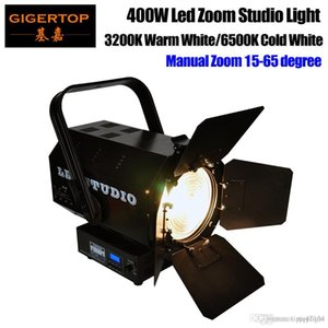 Gigertop TP-020 400W CW / WW Led Zoom Studio Licht-weiße Farbe Manueller Fokus Heatpipe Kühlsystem 4 Dimmer Kurven 3 Kanäle