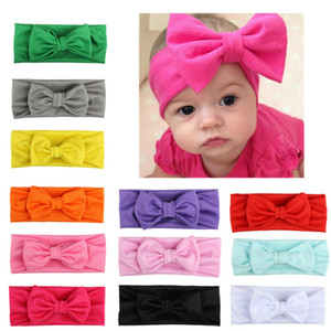Baby Hairband Infant Girls Solid Colors Bow Headbands Bohemian Kids Hair Band Bebe Knotted Elastic Headbands Kids Accessories 060622