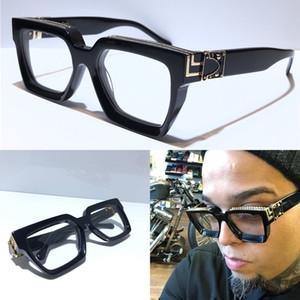 Yeni erkek tasarımcı kutusuyla Z1165W Milyoner kare çerçeve bağbozumu parlak altın yaz UV400 mercek 1165 tarzı lazer logo en kaliteli gözlük