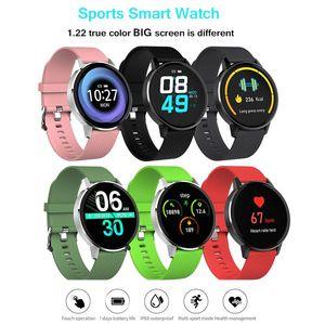 جديد T4 الذكية ووتش المرأة الوردي بلوتوث الزجاج المقسى اللياقة البدنية سوار IP68 ماء القلب رصد معدل الرياضة الذكية الرجال