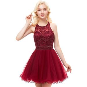 Junior corto Homecoming Prom Dresses Applique del merletto in rilievo di Tulle di lunghezza del ginocchio ottava voto di laurea Abiti Puffy sfera Sweet 16 Party Dress