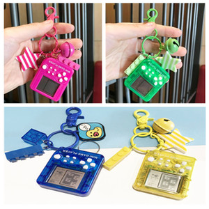 Mini Brick Game Tetris Key chain Children Handheld Game Console Portable Children Toy Educational Electronic Toys key pendant 9 color