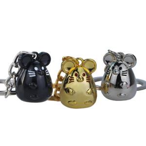 New Chunky Ratte Maus Keychain Mode Tränke Tierauto Keyfob Tasche Anhänger Schlüsselanhänger Personalisieren Schlüsselanhänger für Frauen-Geschenk
