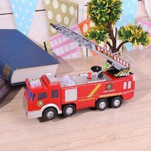 Nuovo stile dello spruzzo d'acqua del motore Toy Car Electric Fire Fire Truck bambini Veicolo giocattolo educativo per i regali del ragazzo di alta qualità Y200318