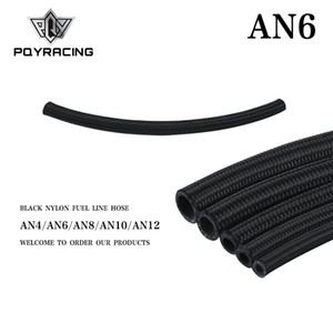 PQY - 6 AN Pro's Lite Black Nylon Racing Hose Fuel Oil Line 350 PSI 0.3M PQY7312-1