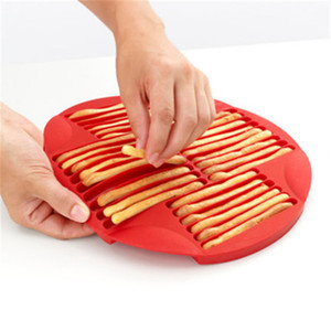 Baking Moulds Silicone Finger Shape Biscuit Molds DIY Chocolate Lollipop Mold Long Strip Cookie Baking Tray T2I5998
