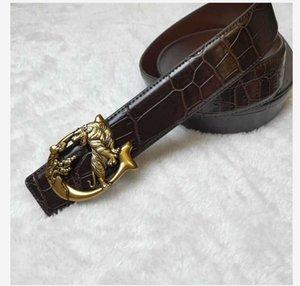 Tiger Cowhide Designer Belt for Man Woman Belt Fashion eagle Smooth Buckle Belts Highly Quality Cowhide Black Brown Colors Optional AS9