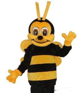 Alta qualidade Real Pictures Deluxe abelha mascote traje Adulto Sizefree grátis