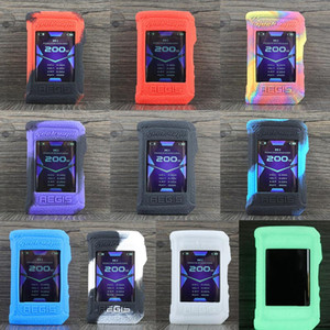 Geekvape Aegis X Etui de protection couverture cas décoratifs colorés en caoutchouc souple Dermatone DHL gratuit