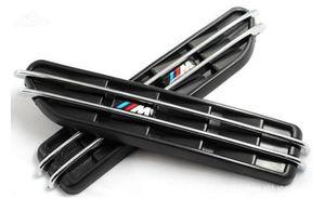 Cuscino ammortizzatore di corrente prese d'aria laterali Mesh Grille Hole Adesivi BMW M5 E12 E28 E39 E60 E61 F07 F10 F11 F18 5Series C / 5