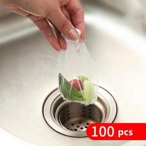 100pcs Evrensel Lavabo Delik Çöp Süzgeç Mesh Tek Çöp Torbası Banyo Mutfak Atık Kutusu Filtre Temizleme Malzemeleri Tahliye