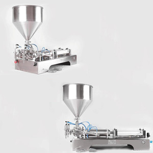 Horizontal paste liquid filling machine for cream chili sauce tomato butter peanut butter olive oil pneumatic filling machine