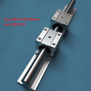 1 pz SBR10 500mm / 600mm / 700mm / 800mm / 900mm guida di supporto guida lineare + 2 pz SBR10UU blocchi di cuscinetti lineari per router di cnc