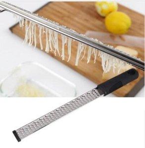Rallador de queso herramientas de acero inoxidable Limón Zester de frutas pelador Gadgets de cocina Rallador Rallador de cocina Herramientas KKA6454N