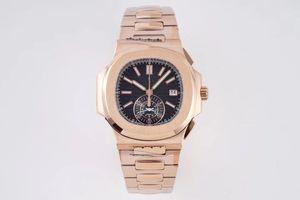 3K Neugeschäfts hohe Qualität, 5980 / 1A-014 Multifunktionszeit Armbanduhr, PP. Ch28-520 Bewegung, 40,5 mm Design Uhr