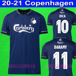 2020 2021 ZECA Daramy Copenhague azul ausente del fútbol jerseys FISCHER SIGURDSSON jersey de camisetas de fútbol SKOV kits uniformes
