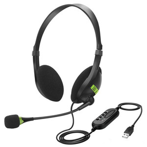 USB Headset with Microphone Noise Cancelling Computer PC Headset Lightweight Wired Headphones for PC  Laptop Mac  School Kids  Call Center