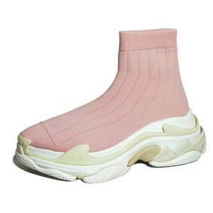 Fashion socks ankle boots sports shoes candy color pink blue yellow black stretch fabric women's casual shoes non-slip women's f