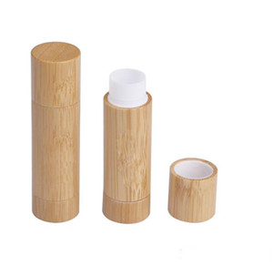 Maquiagem design de bambu vazio lábio recipiente bruta tubo de batom diy recipientes de cosméticos, tubos de bálsamo para os lábios, tubos de batom de bambu