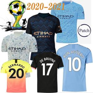 2020 2021 uomini di calcio della camicia di patch Divisa KUN AGUERO De Bruyne GESUS BERNARDO Mahrez SANE RODRIGO Maillot de foot