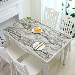 2019 New Arrive Hot Sell Brand PVC Tablecloth Kitchen Pattern Oil Glass High Quality Tablecloth Transparent Waterproof D' Water Y200421