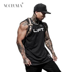 Vücut Geliştirme Fitness Erkekler tankları Koşu Hızlı Kuru Egzersiz Baskı Artı boyutu 3XL Yelek Stringer Spor Muscle Atlet üst