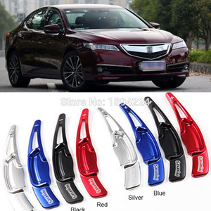 2pcs Aluminum Car Steering Wheel Shift Paddle Shifter Extension For Acura TLX 2015-2017