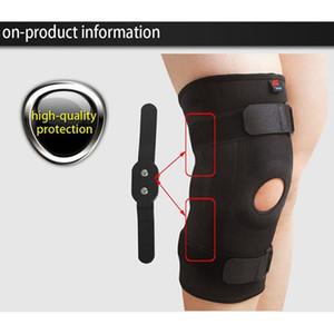 Joelho Equitação Ciclismo Sports Protector com duplo Placa de aço Knee Guard Proteção Pads Suporte