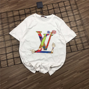 20FW LOUIES Spring Lusso Marca Men's Women's Tshirt progettista t shirts Cotton Tee Shirt Chest RinbowsLogos Casual Girl xshfbcl Tshirt
