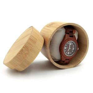 Натурального бамбука Часы Box ювелирные изделия деревянный ящик наручные часы держатель Коллекция дисплея Случай хранения подарков