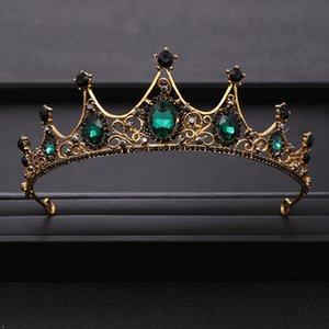 tiara de cristal verde AiliBride Vintage Wedding Crown nupcial headpiece cabeça jóias cabelo enfeite de cabelo Acessórios do casamento Jóias